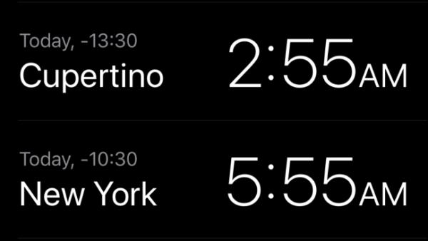 نمایش تایم زون با Clock App یا اپلیکیشن ساعت در آیفون