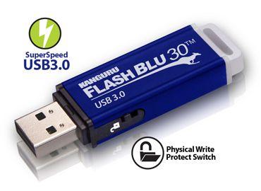 در این تصویر یک مموری USB مشاهده می کنید که یک ضامن در کنار آن قرار گرفته است. روی ضامن علامت قفل سر باز کشیده شده است. این بدین معنی است که با کمک این ضامن می توانید امکان استفاده از فلش مموری را محدود کنید.