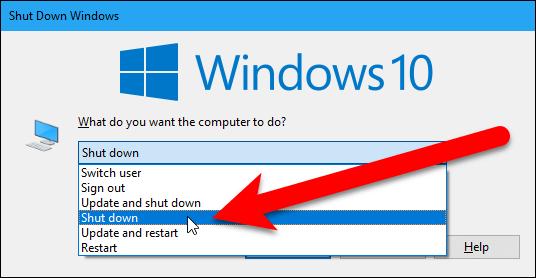 ۳ روش برای Shut Down ویندوز ۱۰ بدون پروسه بروز رسانی