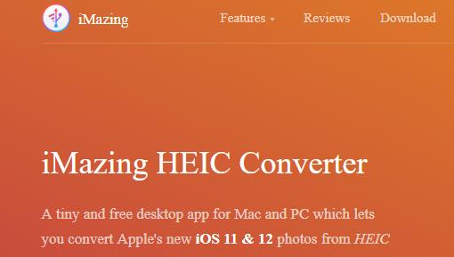 تبدیل فرمت عکس آیفونiMazing HEIC Converter