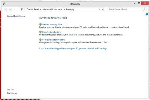 آموزش استفاده از System Restore در ویندوز 8