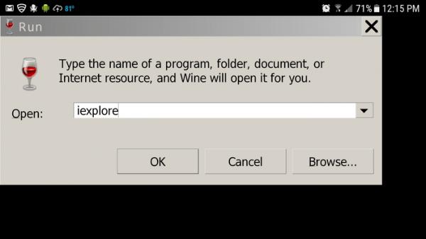 اجرای نرم افزار ویندوز به کمک RUN در اندروید