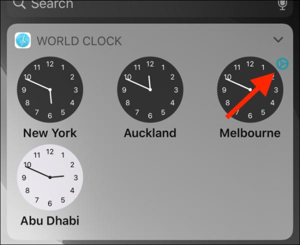 از ویجت ساعت جهانی استفاده کنید