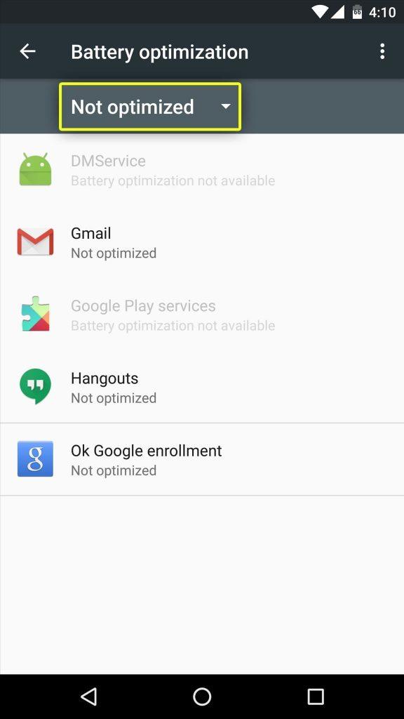 Doze & App Standby