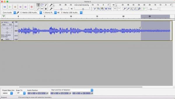 روش حذف نویز صدا در مک با کمک اپلیکیشنAudacity