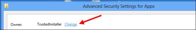 Windows 8-Change Trustedinstaller Owner