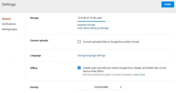 افزایش فضای ذخیره سازی توسط فایل های گوگل درایو
