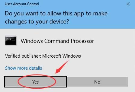 برخی از سیستم ها، با توجه به نوع کاربری، این هشدار را نمایش نمی دهند در صورتی که این هشدار را می بینید باید yes را بزنید