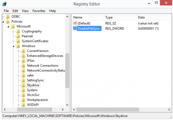 disable-skydrive-registry