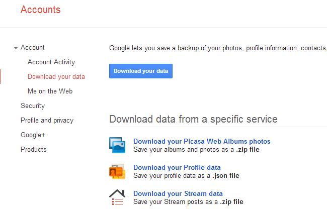 بکاپ گرفتن از اکانت شبکه های اجتماعی مثل گوگل پلاس