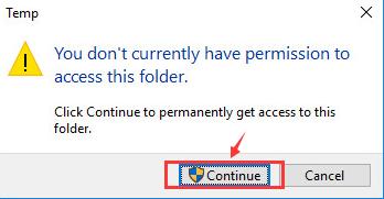 ادامه مسیر به صورت ادمین لازمه ادامه حل مشکل اینترنت به کمک حذف فایل های مورد نظر است.