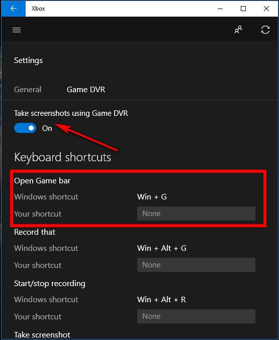 استفاده از گیم بار در ویندوز 10 برای گرفتن اسکرین شات از بازی ها