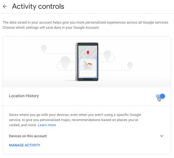 روش خاموش کردن تاریخچه لوکیشن در گوگل