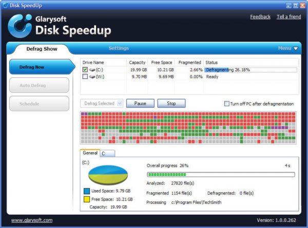 افزایش سرعت دیسک باDisk SpeedUp