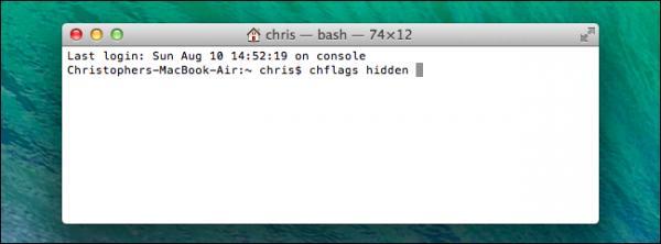 مخفی کردن فایل در Mac OS X