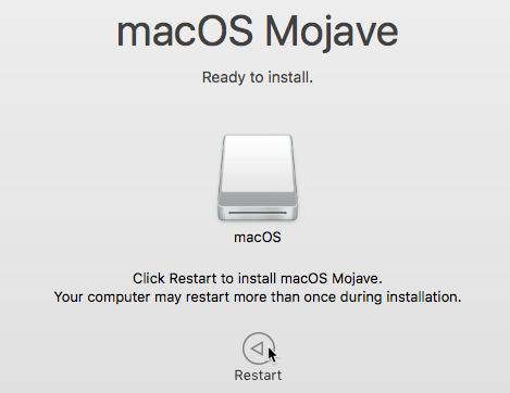 ریستارت کردن سیستم بعد از نصب مک روی یو اس بی درایو