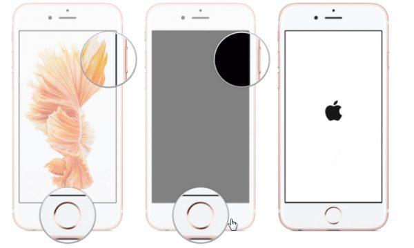 برای ریست و ریبوت گوشی های قدیمی آیفون تا گوشی آیفون 6 شیوه یکسانی اتخاذ می شود چرا که هنوز در این مدل ها دکمه هوم را داریم.