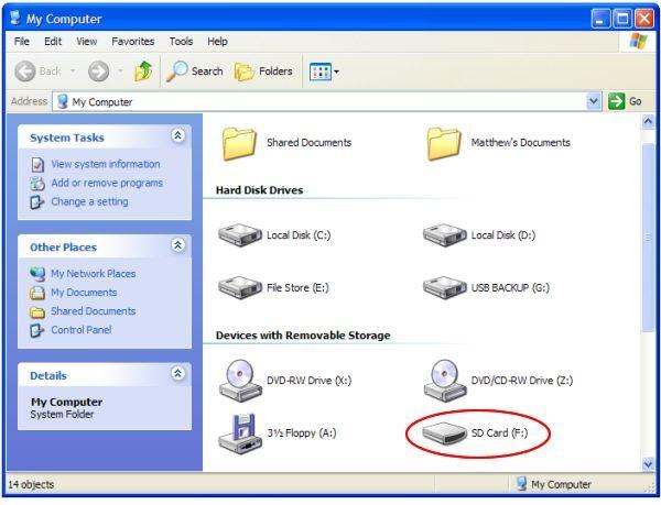 اگر sd کارت خراب، بعد از نصب به سیستم امکان شناسایی داشته باشد می توانید آن را در این بخش از رایانه خود مشاهده کنید و کارهای بعدی را به کمک کامند پرامپت روی آن انجام دهید