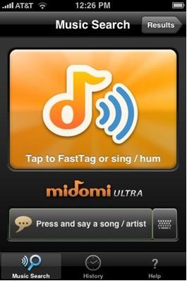 midomi وب سایتی است که برای پیدا کردن اسم آهنگ بکار می رود خوشبختانه هم اکنون midomi به صورت نرم افزار موبایلی نیز ارائه می شود که می توانید اپلیکیشن آن را از سایت رسمی آن دانلود کنید