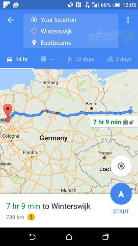ترفند گوگل مپ افزودن نقطه توقف
