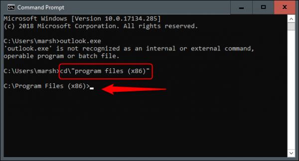 اجرای ورد با کامند پرامپت