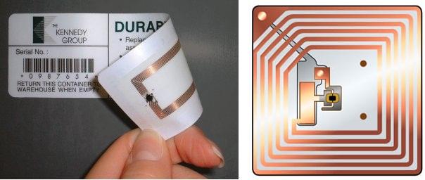نمونهای از برچسبهای RFID