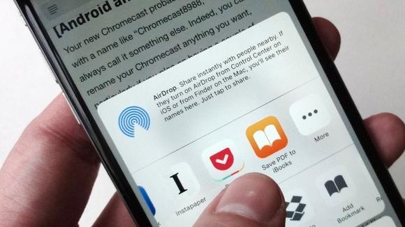 آموزش تبدیل صفحات وب، یادداشت و مقاله به PDF در iOS با دکمه Print