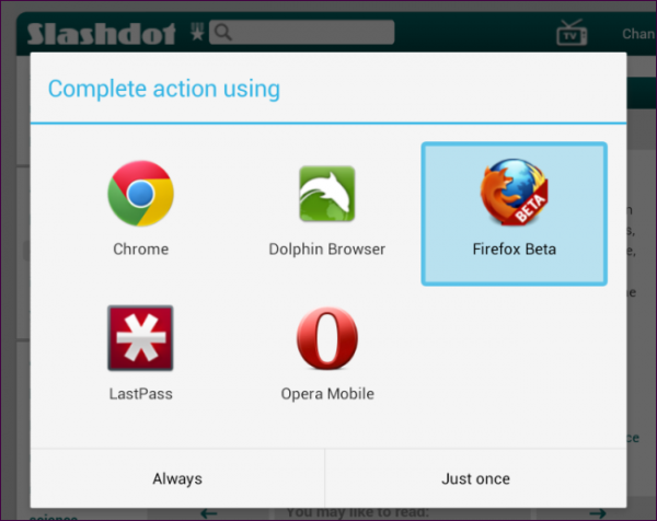 select-android-browser