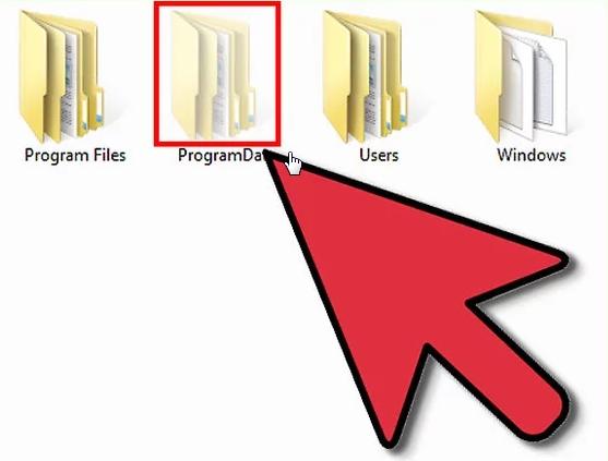 فلش به سمت فایلی است که در تنظیمات پنهان شده بود و با کمک فولدر آپشن آن را نمایش داده ایم البته به طور موقت. تفاوت نمایش این فایل را می بینید؟