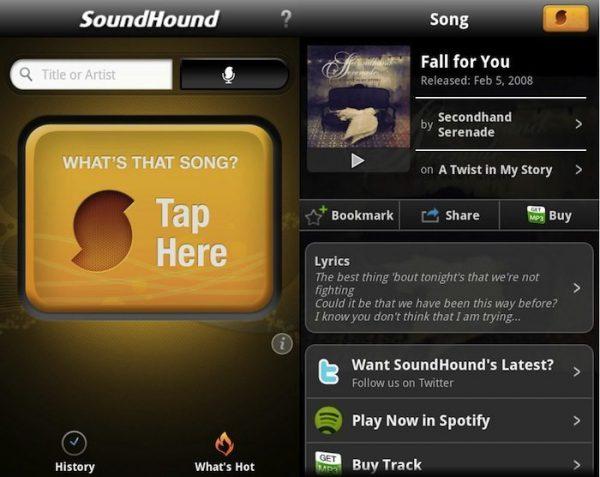 SoundHound یک نرم افزار کامل برای پیدا کردن اسم آهنگ با موبایل است. کاربران اندرویدی و آی او اس هر دو می توانند از این نرم افزار موبایلی استفاده کنند