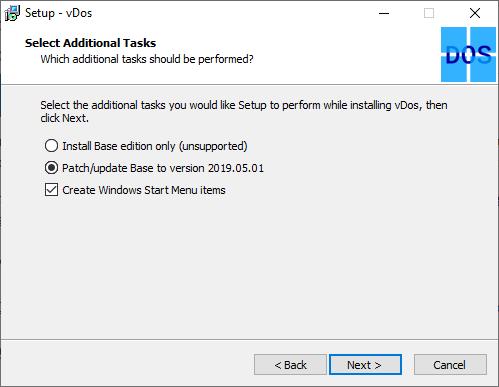 نصب کردن vDos