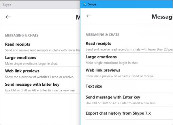 مقایسه اسکایپ جدید ویندوز و ویندوز 10