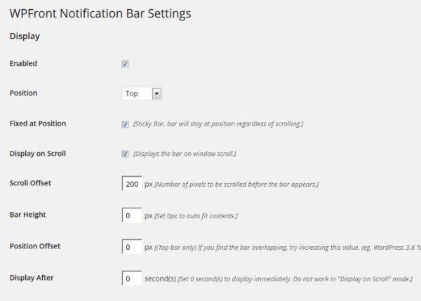 افزونه نوتیفیWPFront Notification Bar برای وردپرس