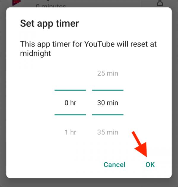 روش استفاده از برنامه مدیریت زمان در اندروید 9