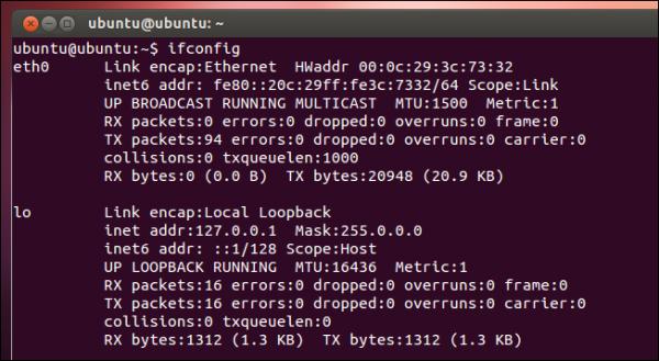 تغییر آدرس IP توسط خط فرمان در لینوکس