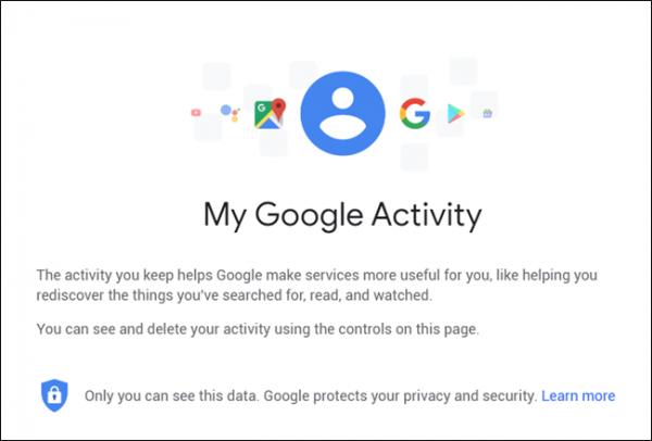 حذف هیستوری یوتیوب از طریقMy Google Activity